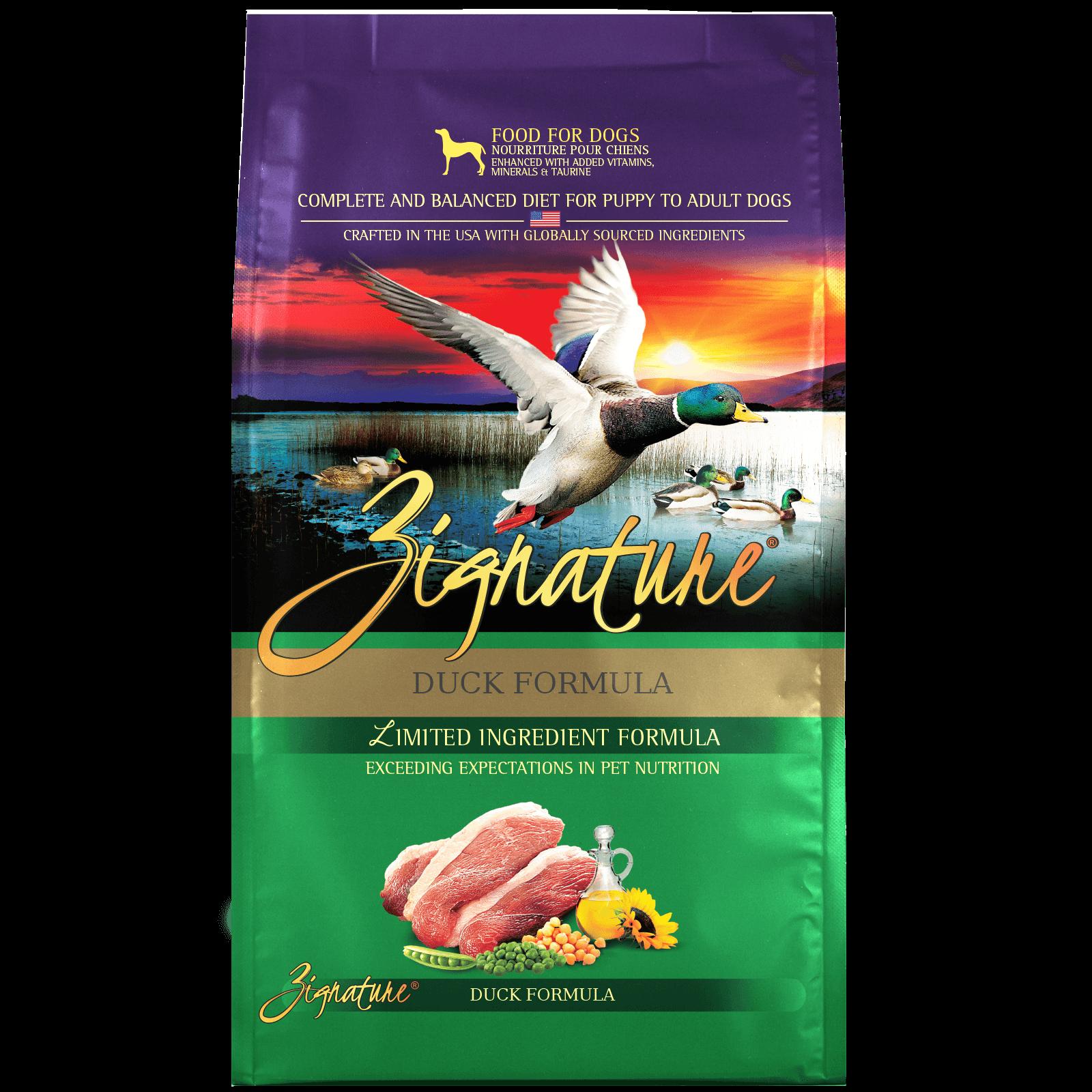 Zignature Duck Formula Dog Food (4lb)