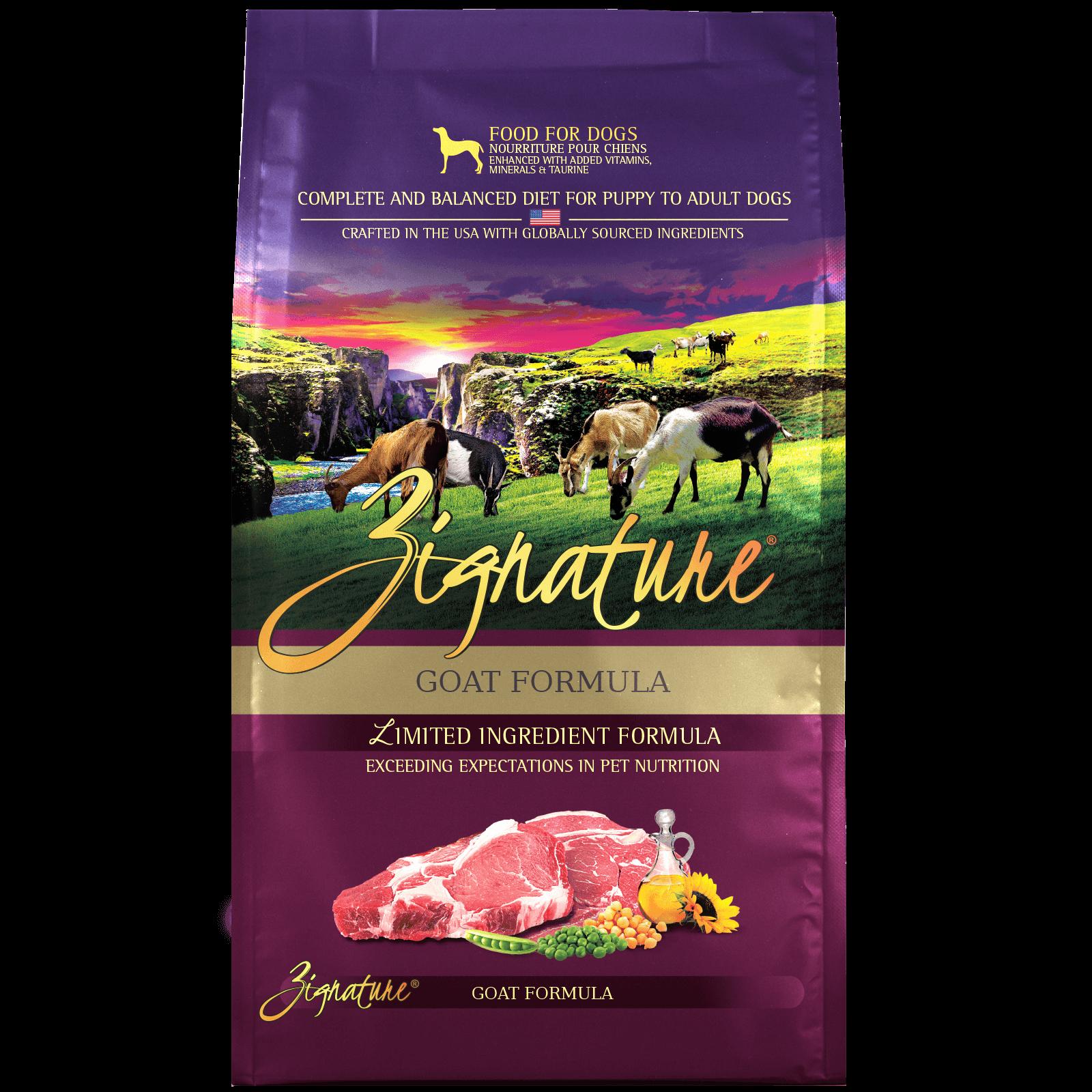 Zignature Goat Formula Dog Food (4lb)