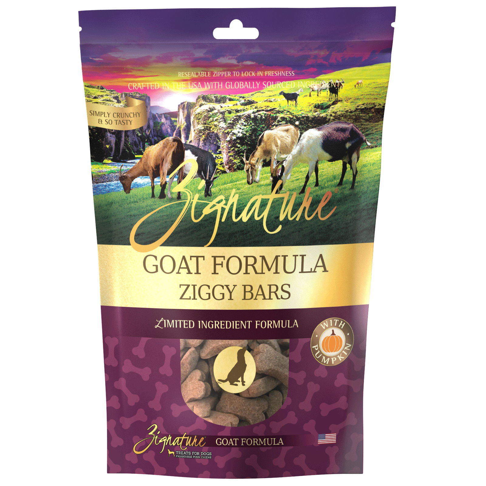 Zignature Goat Formula Biscuit Treats for Dogs
