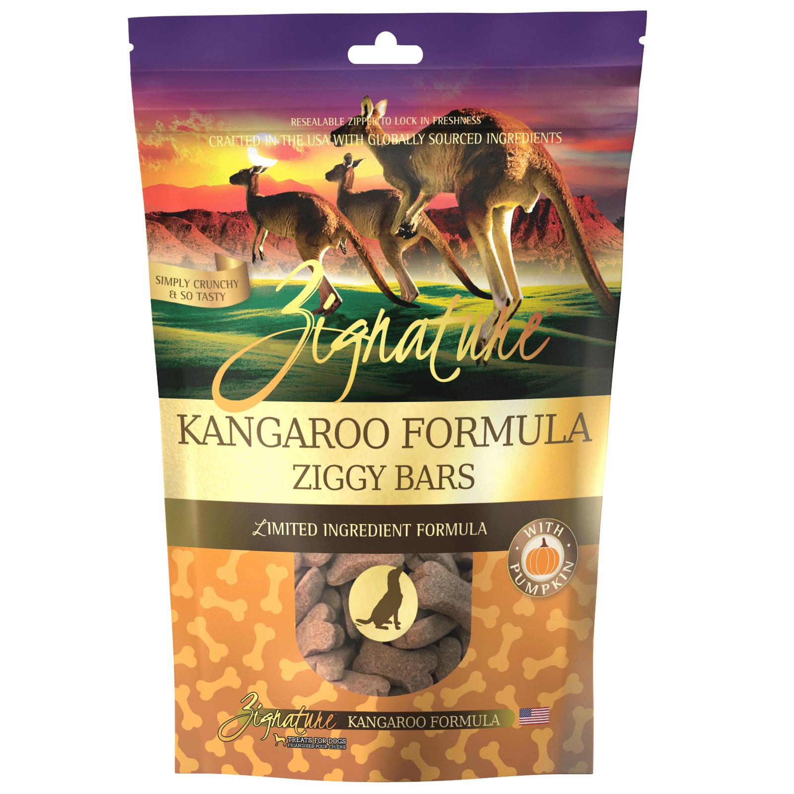 Zignature Kangaroo Formula Biscuit Treats for Dogs