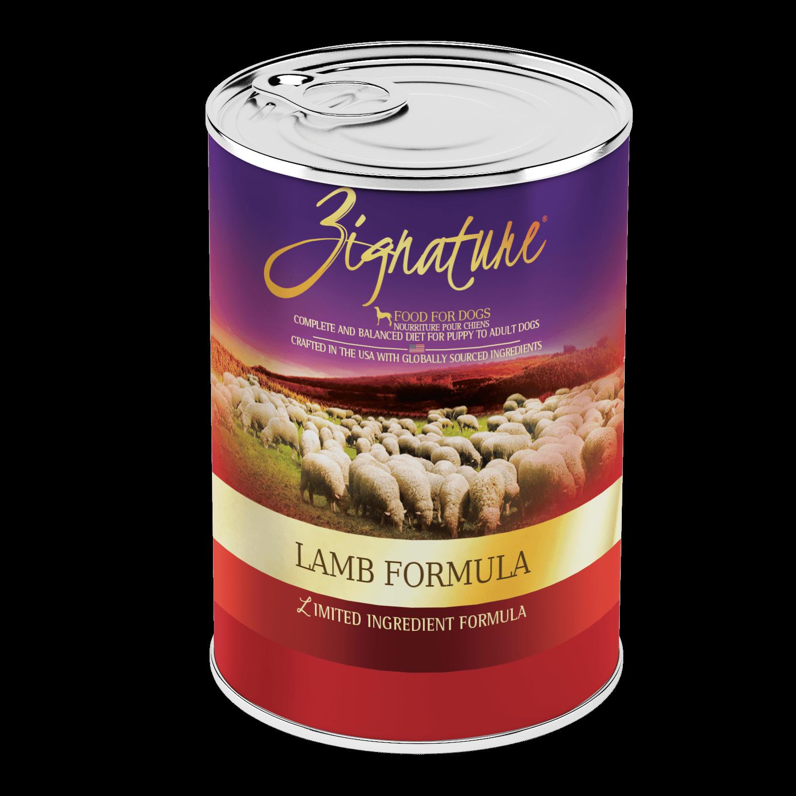 Zignature Lamb Formula Wet Dog Food