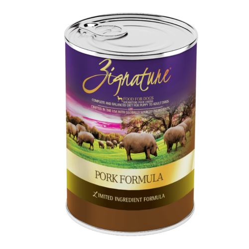 Zignature Pork Formula Wet Dog Food