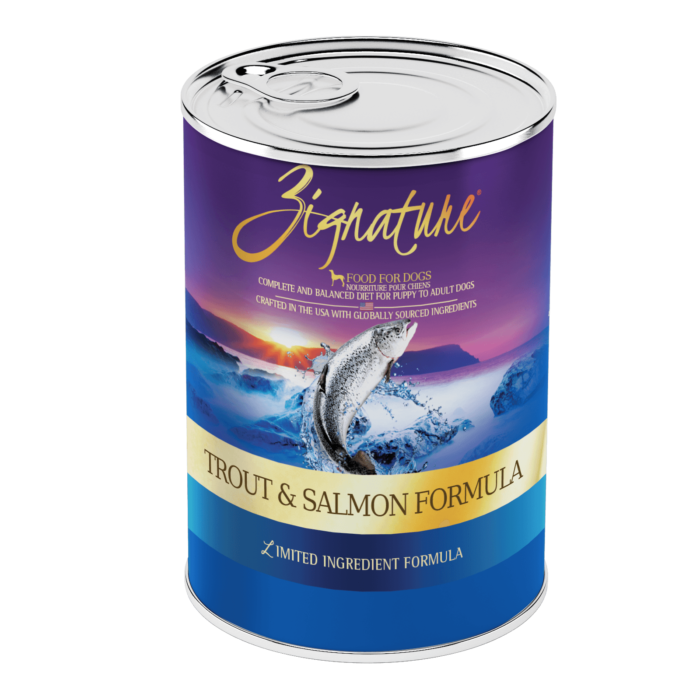 Zignature Trout & Salmon Meal Formula Wet Dog Food