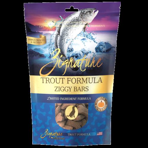 Zignature Trout Formula Biscuit Treats for Dogs
