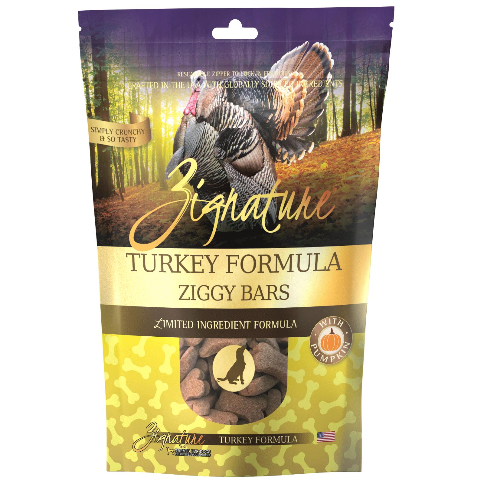Zignature Turkey Formula Biscuit Treats for Dogs