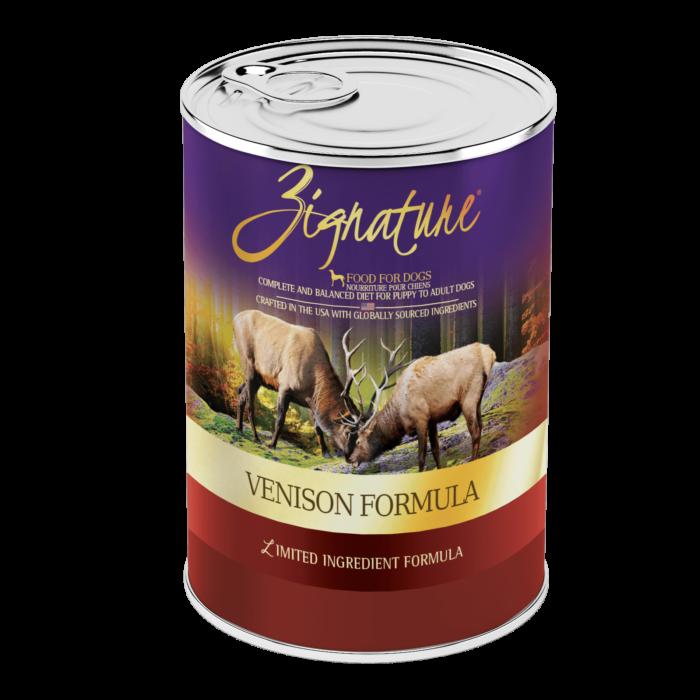 Zignature Venison Formula Wet Dog Food