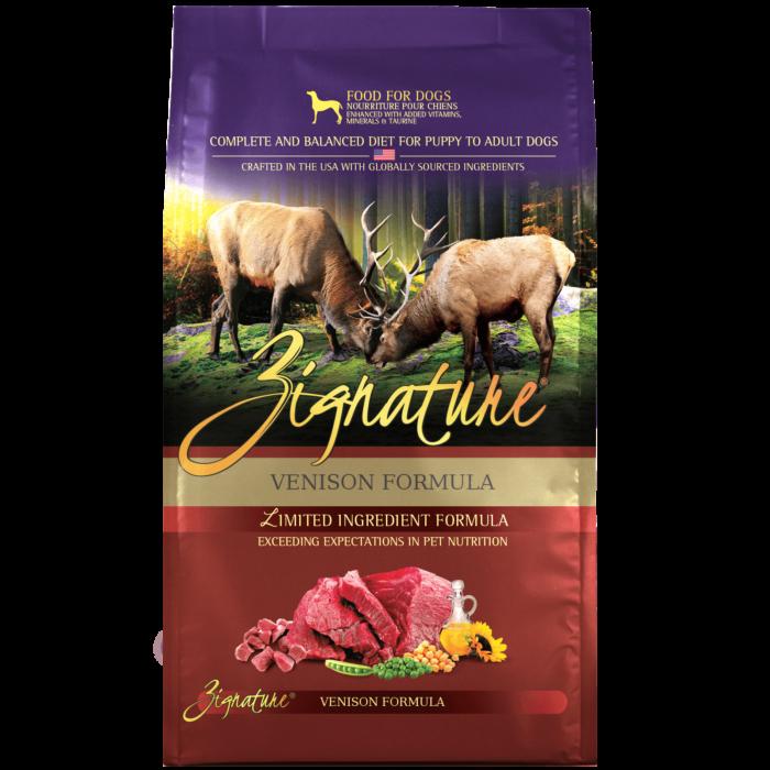 Zignature Venison Formula Dog Food (4lb)