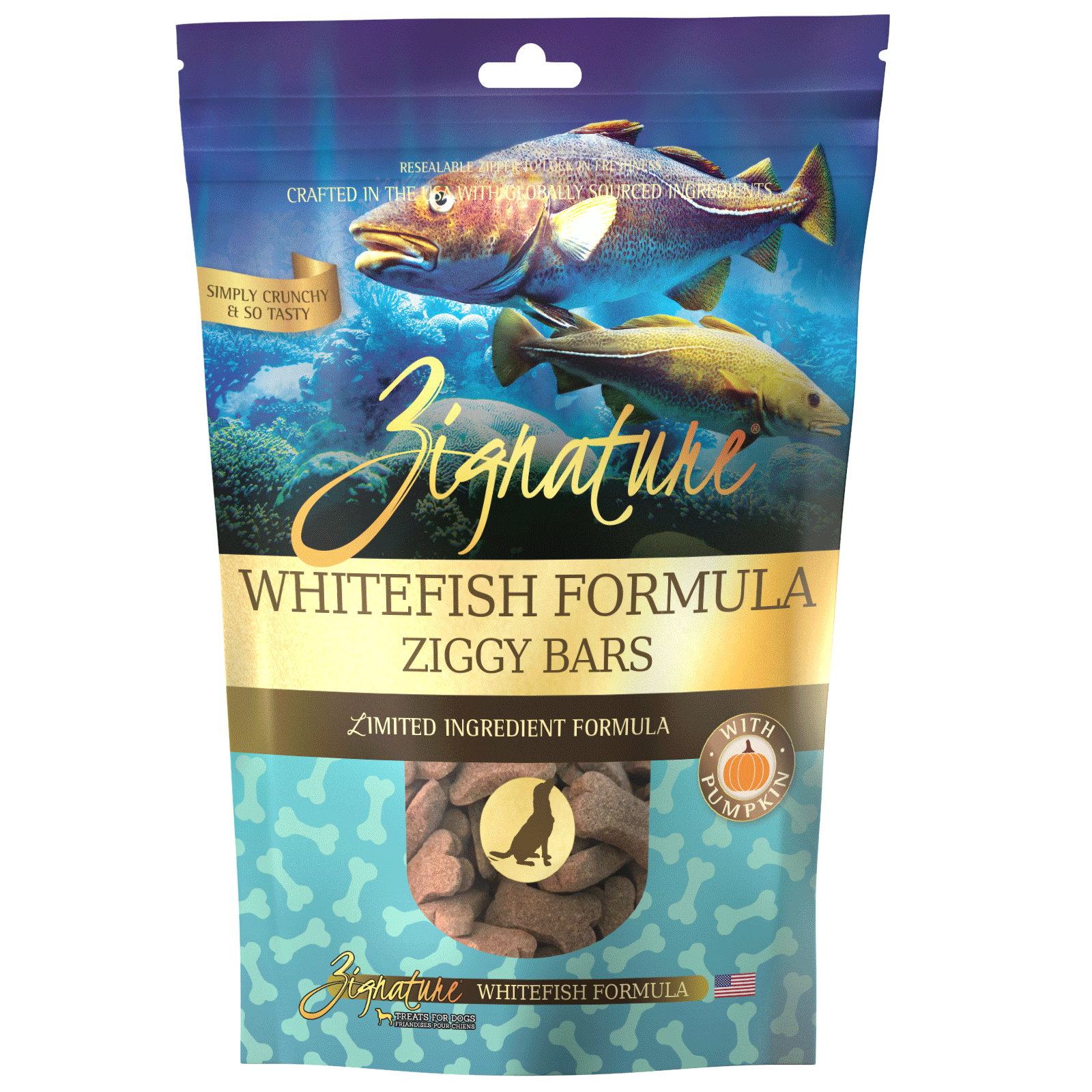 Zignature Whitefish Formula Biscuit Treats for Dogs