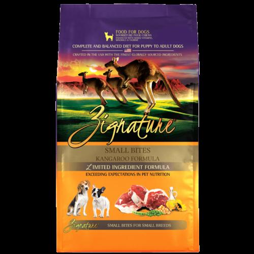 Zignature Kangaroo Formula Small Bites Dry Dog Food