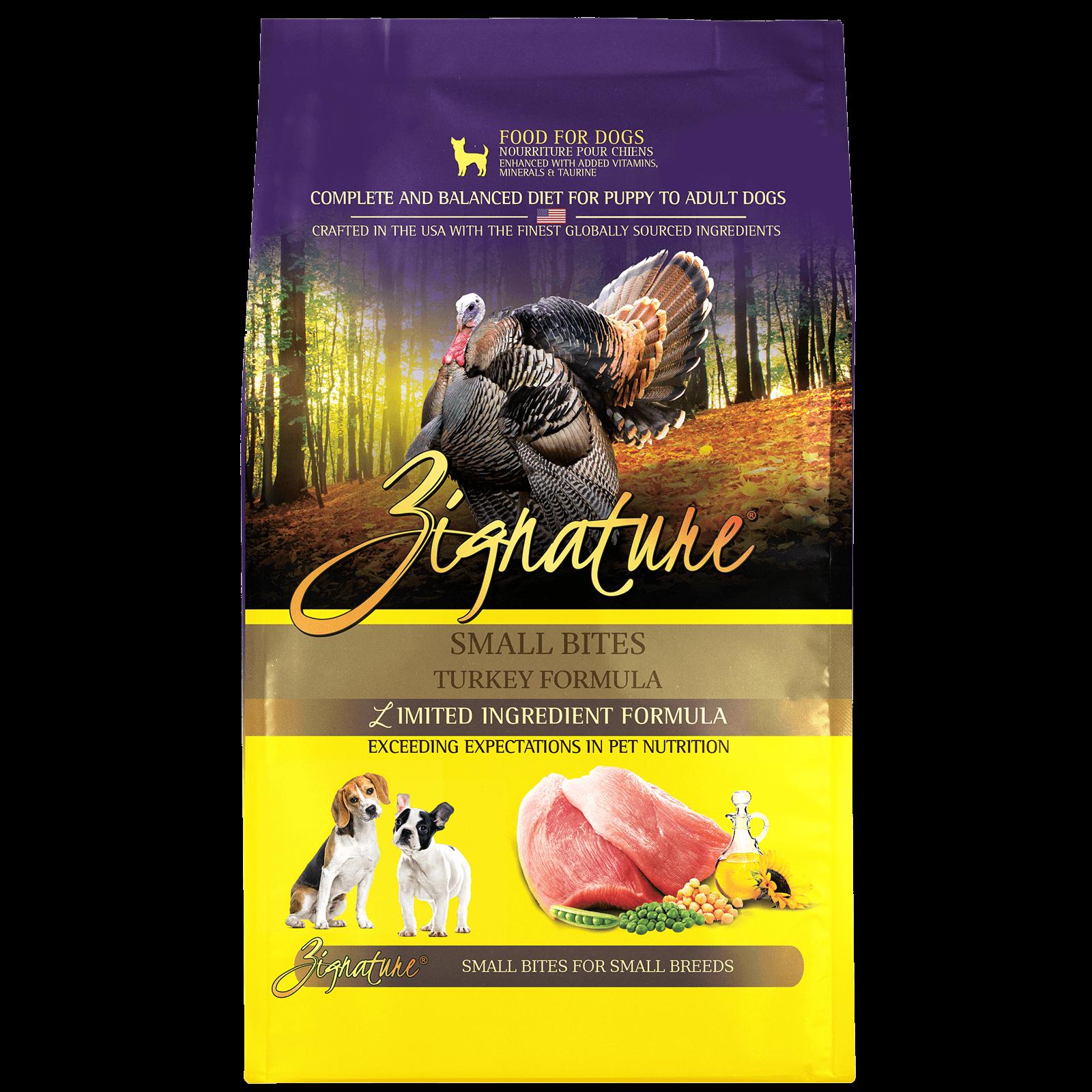 Zignature Turkey Formula Small Bites Dry Dog Food